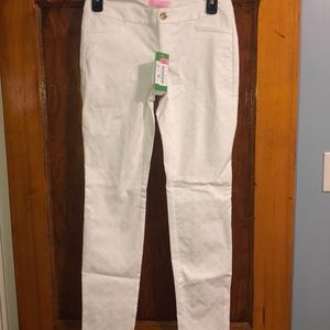 NWT White Lilly Pulitzer Ankle Pants